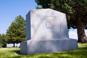 Google Reader Gravestone