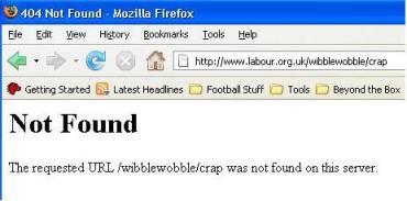 Labour Party 404 error