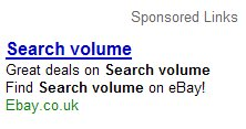 Ebay Sells Search Volume