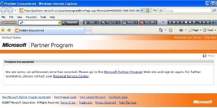 Microsoft Error