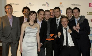 The PushON team winning the Best Use of Search Award