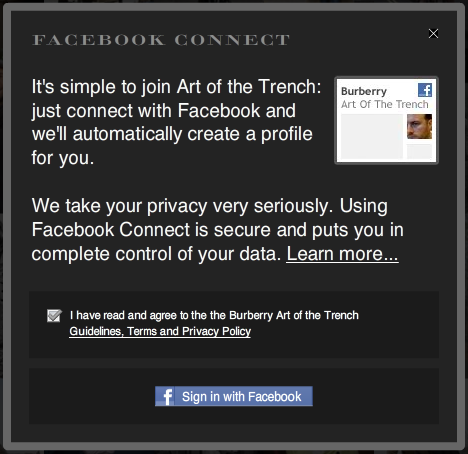 Art of the Trench Facebook Connect