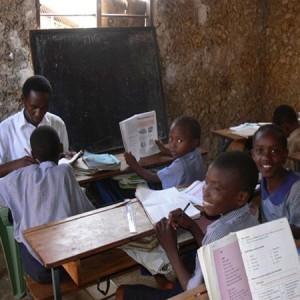A photograph of a Kenyan classroom