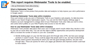 Connecting Analytics to Webmaster Tools