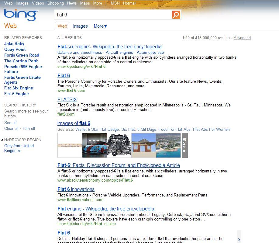 Bing BT Flat 6 Ad