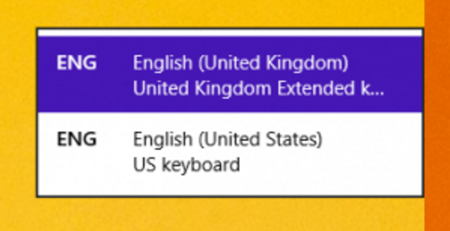 how to change keyboard windos 1