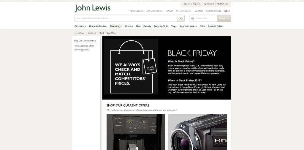 Black Friday 2015 Black Friday Deals Sales John Lewis
