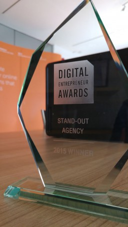 2015 Digital Entrepreneur Award trophy