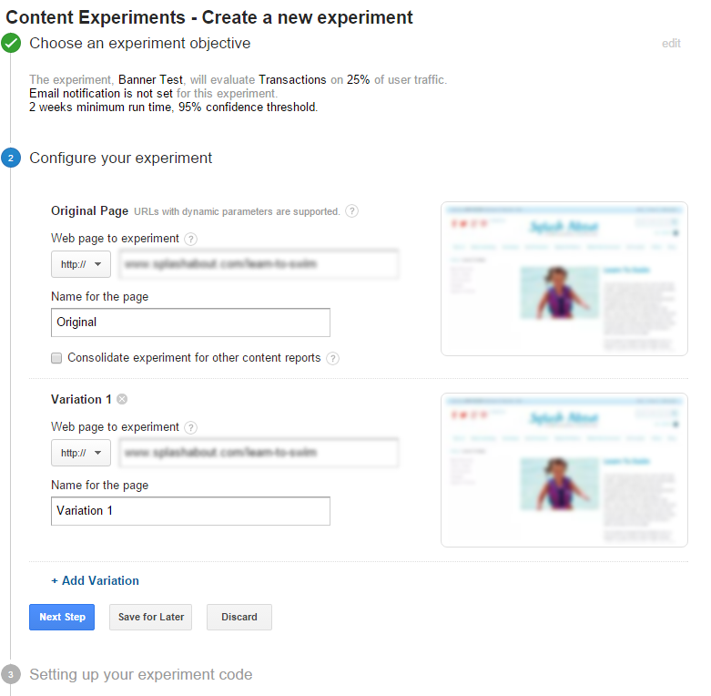 google-content-experiment-screen