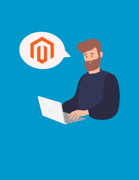 Illustration of a Magento Developer