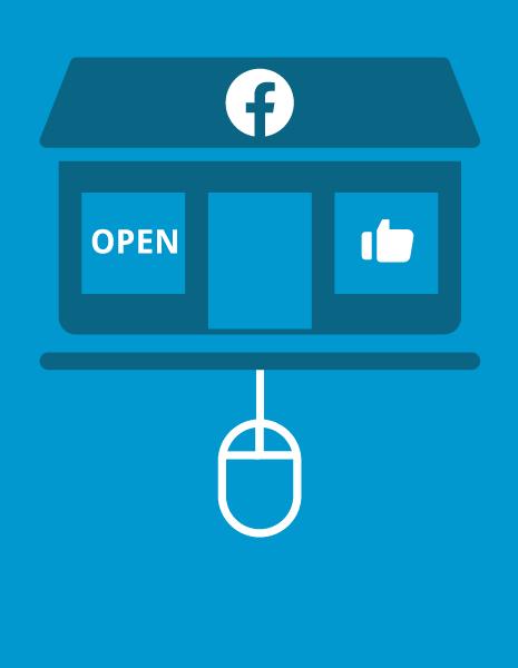 Illustration representing a Facebook storefront