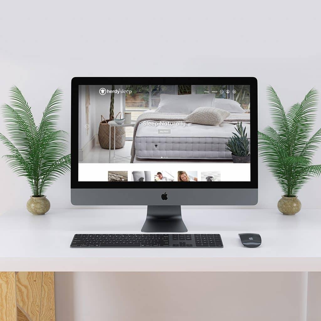 Herdy Sleep website demonstrated on a desktop