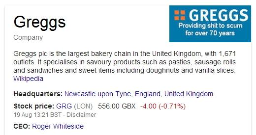 Greggs Google