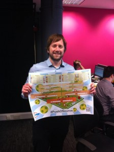 Return On Digital's Dave Ashworth with their #PushONeuros Wallchart