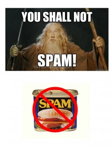 You SHALL NOT SPAM