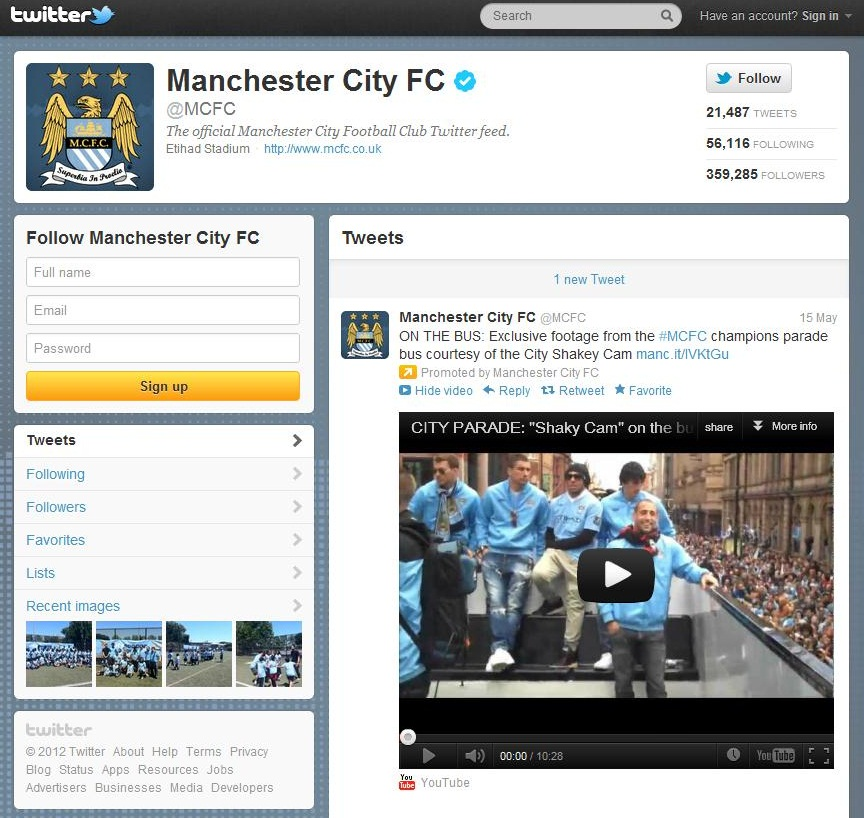 City on Twitter