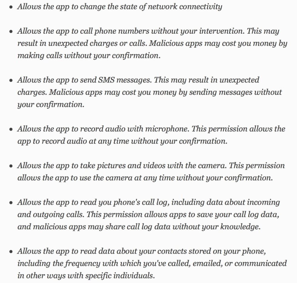 Facebook Messenger t&cs