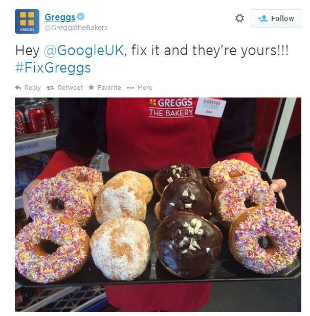 Greggs Google Plea