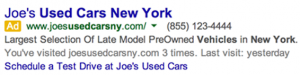 PPC Dynamic Site Link Example