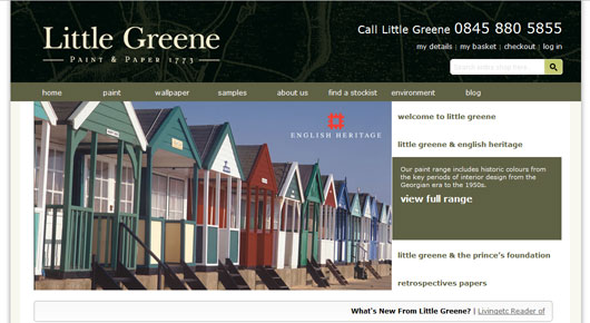 Little Greene Website