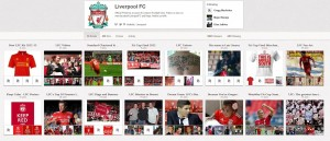 Liverpool's Pinterest account