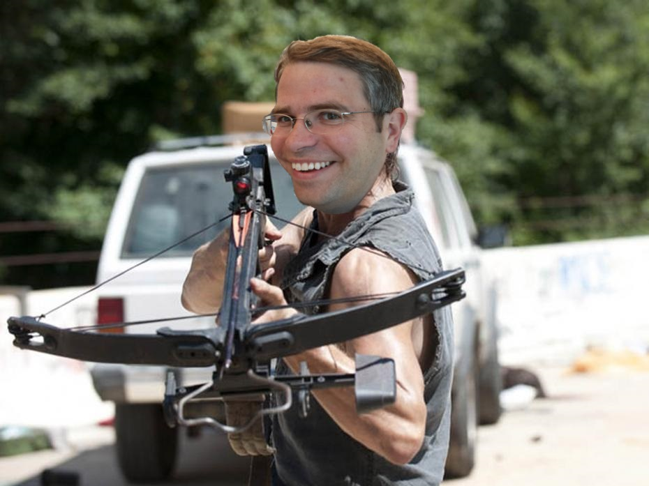 In this picture, Matt Cutts represents Matt Cutts, while his crossbow represents Penguin 2.0, which he uses to eliminate spammy websites. But then, that's obvious, right?