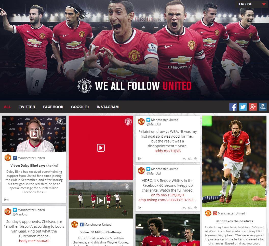 Manchester United Social Media Hub