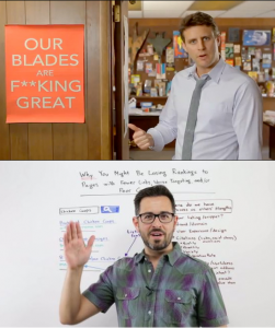 Dollar Shave Club and sexy old Rand