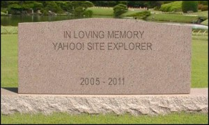 RIP Yahoo! Site Explorer