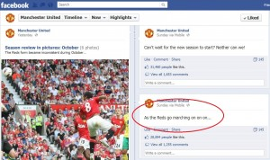 Manchester United on Facebook