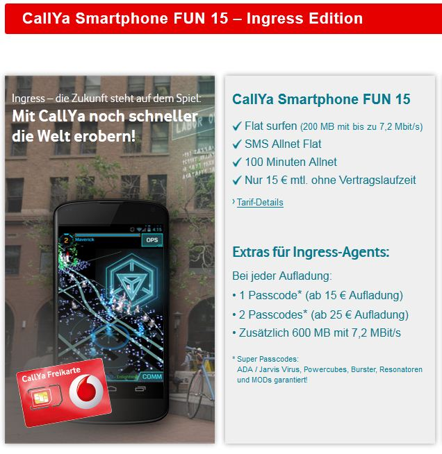 Vodafone Callya sim