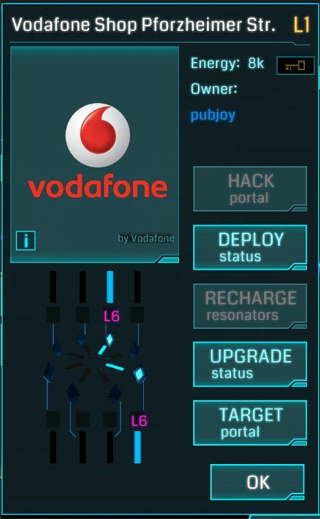 Ingress - Vodafone portal